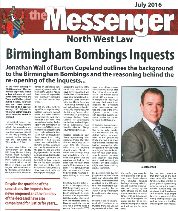 jonathan wall the messenger article