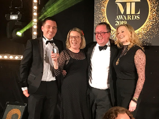 [From left to right] Host John Hyde (Law Society Gazette), Louise Straw (Managing Partner Burton Copeland, Gary Cook (Partner & Head of Legal Sector, Booth Ainsworth) & Law Society President Michelle Garlick.