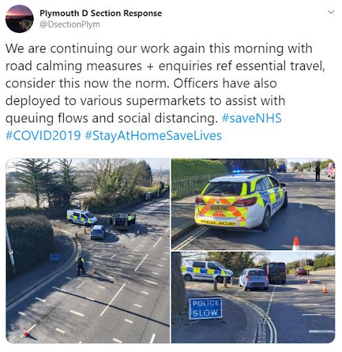 police roadbloack coronavirus
